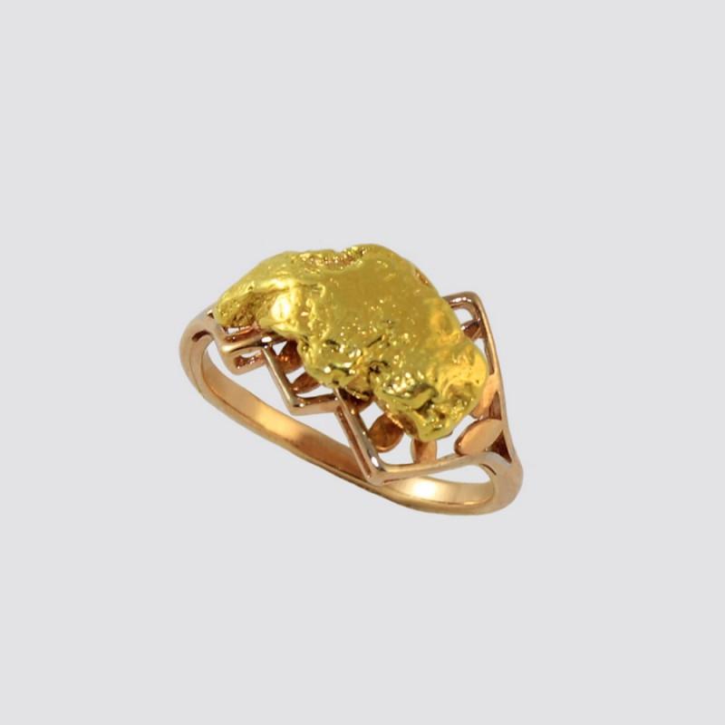 Кольцо с самородком